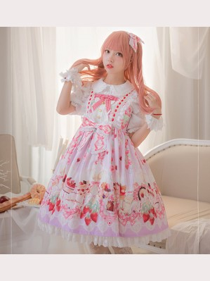 Strawberry Feast Sweet Lolita Dress JSK by Milu Forest (MF14)