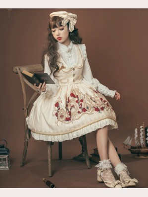 Crown Of Thorns Lolita Vest & Skirt Set by Milu Forest (MF23)