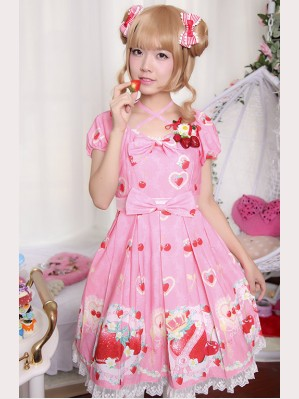Diamond Honey Strawberry Diamond Heart lolita dress OP