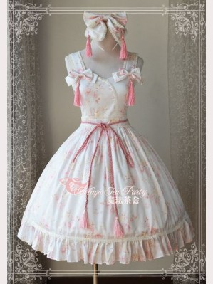 Magic tea party White Cherry blossoms lolita dress JSK