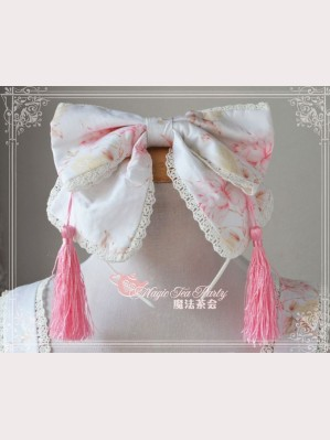 Magic tea party White Cherry blossoms headbow KC