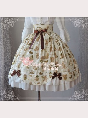 Magic tea party Bear Wonderland lolita skirt SK