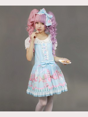 "Souffle Song ""Bunny"" suspender skirt"