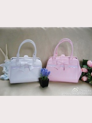 Lolita purse color white/ pink