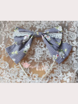 Magic tea party Summer fragrance Lolita headbow KC