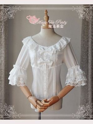 Magic tea party Trumpet sleeves Chiffon Blouse