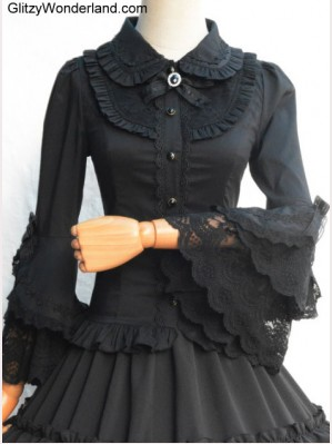 Lolita Wide Sleeves Lace Blouse (BS 11)