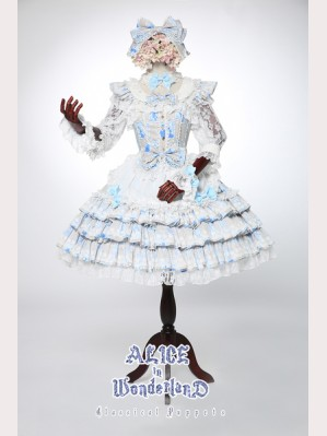 Classical Puppets Alice In Wonderland Rabbit Bride JSK & Apron Set