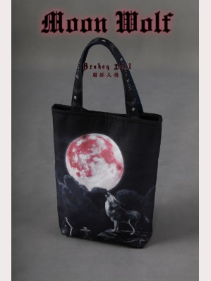Classical Puppets Broken Doll Moon Wolf Printed Shoulder Bag