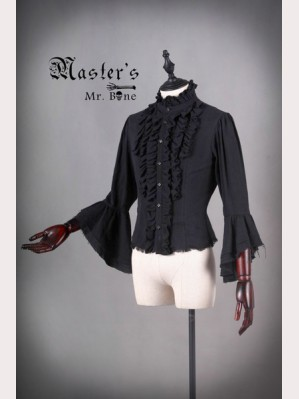 Classical Puppets Master's Mr.Bone Horn Sleeve Blouse