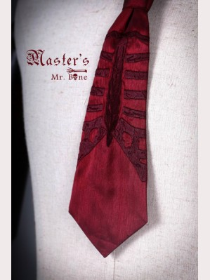 Classical Puppets Master's-Mr.Bone Embroidery Tie