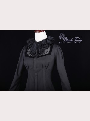 Classical Puppets Broken Doll-Black Tulip Blouse