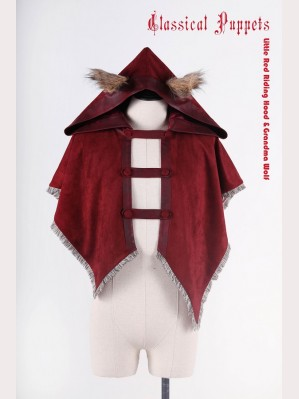 Classical Puppets Little Red Riding Hood & Grandma Wolf Short Cloak