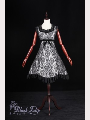 Classical Puppets Broken Doll-Black Tulip Dress JSK
