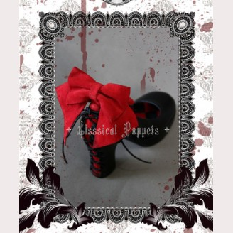 Classical Puppets Theatre of Tragedy high heels shoes (Black & red)