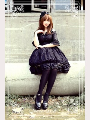 Souffle Song Black & White Sugar Lolita Dress OP