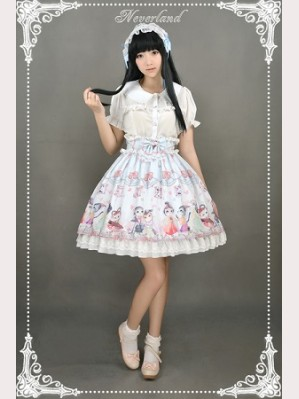 Souffle Song Chinese Walking Cat Lolita Skirt SK