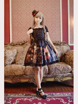 Souffle Song Choosing Puff Sleeve Lolita Dress JSK