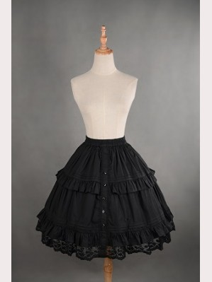 Souffle Song Gorgeous Layered Mori Petticoat - Short