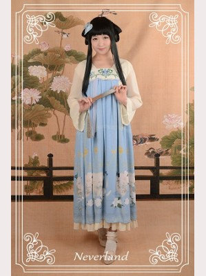Souffle Song The Richly Painted Zither Lolita Dress OP - Design 3