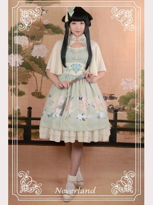 Souffle Song The Richly Painted Zither Lolita Dress OP