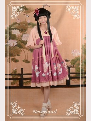 Souffle Song The Richly Painted Zither Lolita Dress OP - Design 2