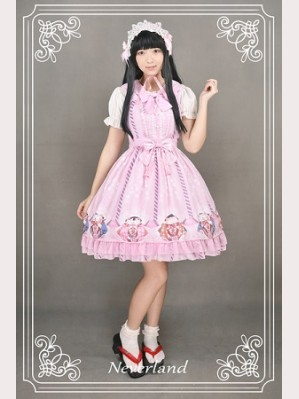 Souffle Song Japanese Fortune Cat Lolita Dress JSK - Design 2