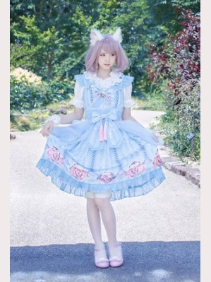 Souffle Song Japanese Fortune Cat Lolita Dress JSK - Design 1