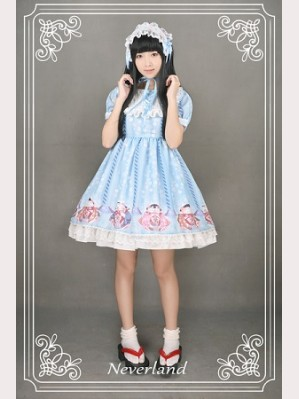 Souffle Song Japanese Fortune Cat Lolita Dress OP