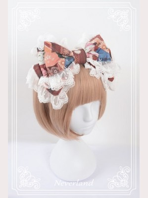 Souffle Song Japanese Fortune Cat Lolita Headbow - Design 2