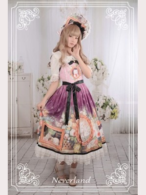Souffle Song Kitty Courtyard Lolita Dress JSK - Design 2