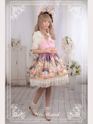 Souffle Song Kitty Courtyard Lolita Dress JSK