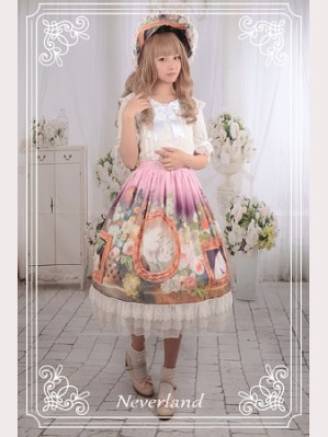 Souffle Song Kitty Courtyard Lolita Skirt SK