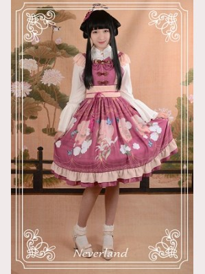 Souffle Song The Richly Painted Zither Lolita Dress JSK