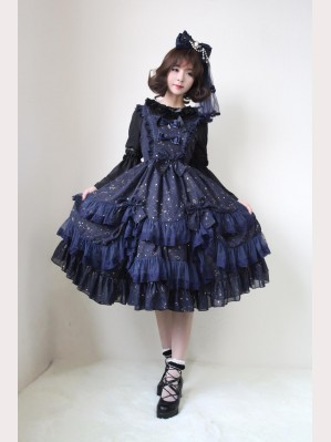 Souffle Song Wishing Stars Lolita Dress JSK - Design 1 (SS638)