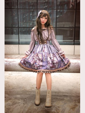 Souffle Song Steampunk Cat Lolita Skirt SK