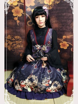 Souffle Song Japanese Style Print Lolita Dress JSK