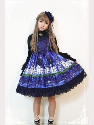 Souffle Song Lake Castle Round Neck Lolita Dress JSK