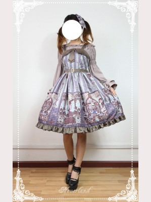 Souffle Song Steampunk cat Lolita Dress JSK - Design 1