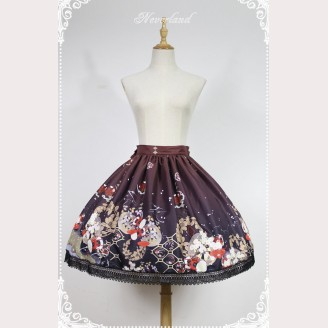 Souffle Song Japanese Style Print Lolita Skirt SK