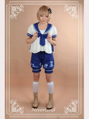 Souffle Song The Piper Under The Starry Night Lolita Blouse & Shorts Set