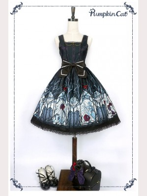 Pumpkin Cat Beauty the Rose Lolita Dress JSK