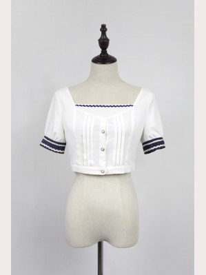 Souffle Song Morning Star Icon School Short Lolita Blouse