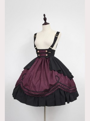 Souffle Song Morning Star Icon School Lolita skirt SK (With Strap)
