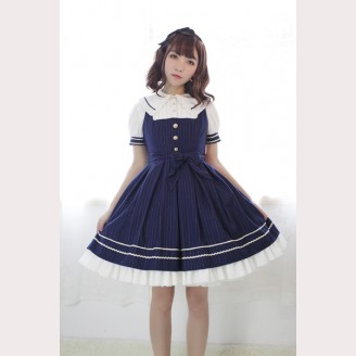 Souffle Song Morning Star Icon School Doll Collar Lolita Dress JSK