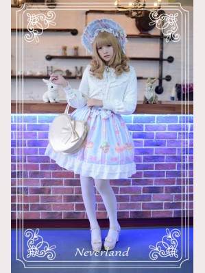 Souffle Song Sweet Snow Mousse Lolita Skirt SK