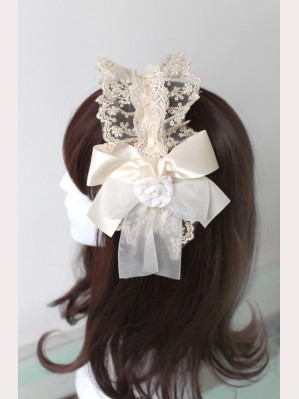 Souffle Song Flower Layered Lace Lolita Headbow