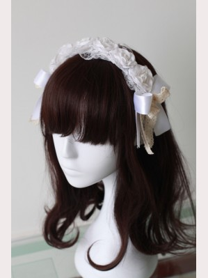 Souffle Song Flower Ribbon Bowknot  Lolita Headbow