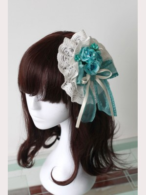 Souffle Song Honeydew Flower Ribbon Lolita Hairclip