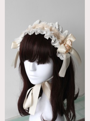 Souffle Song Flower Lace Ribbon Lolita Headdress